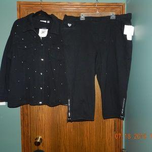 NWT Quacker Factory Dream Jeans Jacket & Capris
